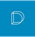 d monogram construction logo linear emblem vector image vector image