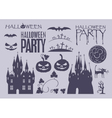 elements on Halloween vector image vector image