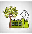 factory ecology tree environment graphic vector image