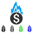 fire damage flat icon vector image vector image