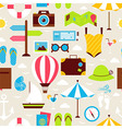 Flat Summer Holiday Seamless Pattern vector image vector image