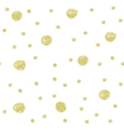gold painted marker dots seamless pattern vector image vector image