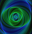 Green blue infinity - spiral fractal background vector image vector image