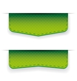 Green ribbon set vector image vector image