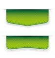 Green ribbon set vector image