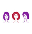 hairdressing salon makeup logo portrait of vector image vector image