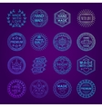 Handmade Emblems Linear Set vector image vector image