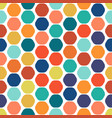 hexagon colorful seamless geometric pattern vector image