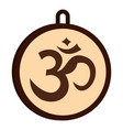 hindu om symbol icon isolated vector image vector image