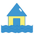 house flood to the water disaster weather vector image vector image