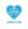 human lungs icon asthma pneumonia respiratory vector image