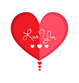 isolated heart shape valentine day vector image vector image