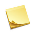 isolated yellow sticky notes vector image vector image