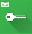 key icon in flat style access login with long vector image vector image