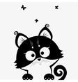 kitten black vector image vector image