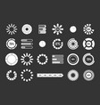 loading icon set grey vector image