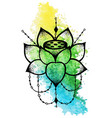 lotus flower with string of beads vector image vector image