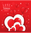 love for valentines day happy valentines day vector image vector image