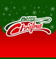 merry christmas card red and green background vector image
