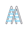 metal stepladder linear icon concept metal vector image