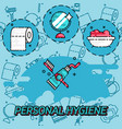 personal daily hygiene design concept set vector image