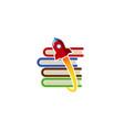rocket store logo vector image vector image