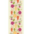Root vegetables vertical seamless pattern vector image