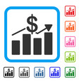 sales chart framed icon vector image vector image