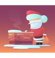 Santa Claus near chimney vector image