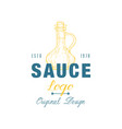 sauce logo original design estd badge can be used vector image vector image