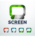 screen abstract icons vector image