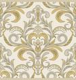 seamless damask pattern islam indian arabic vector image vector image