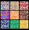 seamless patterns from triangles set of different vector image vector image