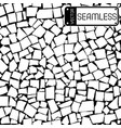 Seamless texture of black and white tiles wall vector image