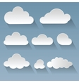 set flat clouds vector image vector image