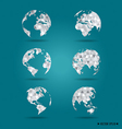 Set of modern globes vector image vector image