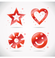 Set of red elements vector image vector image