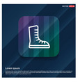 skating shoe icon vector image vector image