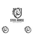steel horse vector image vector image