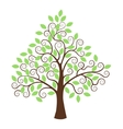 Stylized tree isolated on white background vector image vector image