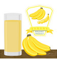 the banana vector image vector image