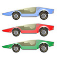 three car vector image vector image