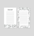 to do list with lines for notes vector image vector image