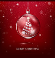 transparent glossy christmas decoration christmas vector image vector image