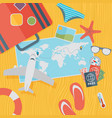 travel background flat vector image vector image