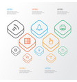 user outline icons set collection of history vector image vector image