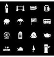 white london icon set vector image