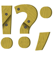 wood question mark vector image vector image