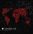 world map made virus shape silhouettes vector image vector image