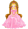 Young queen vector image vector image
